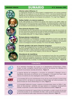 Sumario de Uruguay Ciencia Nº 8