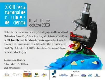 23ª Feria Nacional de Clubes de Ciencia en Tacuarembó, Uruguay
