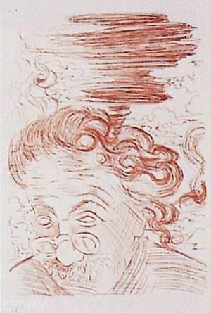 Einstein por Dalí (grabado de Salvador Dalí)