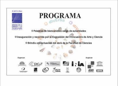 ACTO DE APERTURA EN EL IIBCE - SEMANA DE LA CIENCIA Y LA TECNOLOGÍA - PROGRAMA